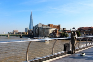 View of The Shard from Millennium Bridge on my way to Tate Modern.