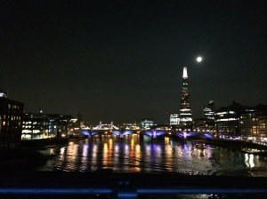 The Shard from Millennium Bridge.