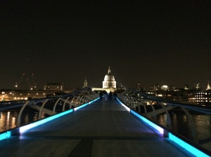 St. Paul's Cathedral from Millennium Bridge.