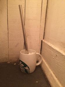 Toilet brush holder at TAP.
