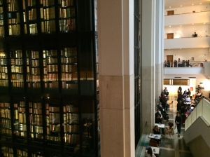 The British Library, my favorite place in London.