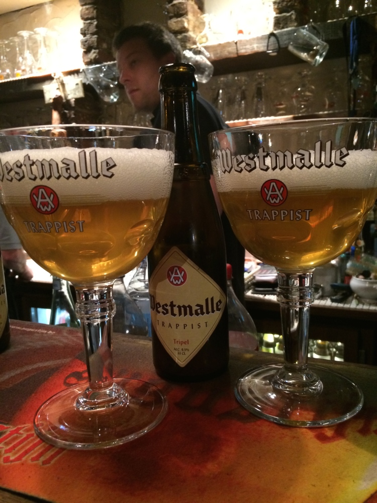 Super cheap, yet super lekker Belgian beer in Gent.